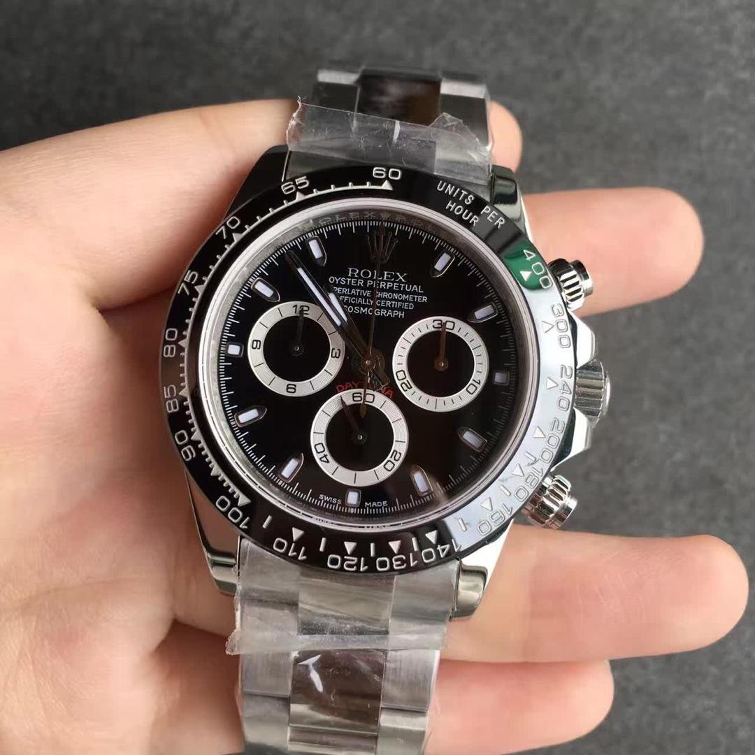 Black Dial 40MM Rolex Daytona Replica